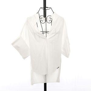 3.1 Phillip Lim 3/4 Sleeve V-neck Top - Size 0